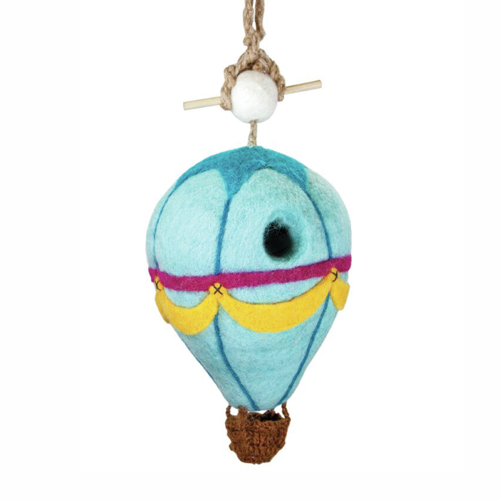 dZi hot air balloon wool felt decorative indoor outdoor birdhouse