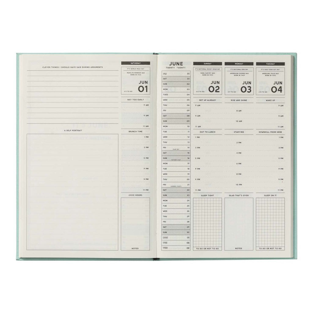 easy tiger 2020 you probably think this schedule is about you weekly planner june page 1