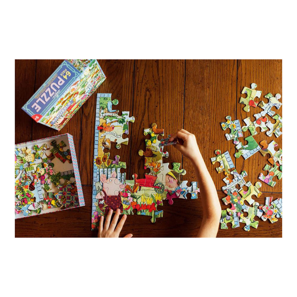 eeboo 64 piece growing a garden jigsaw puzzle