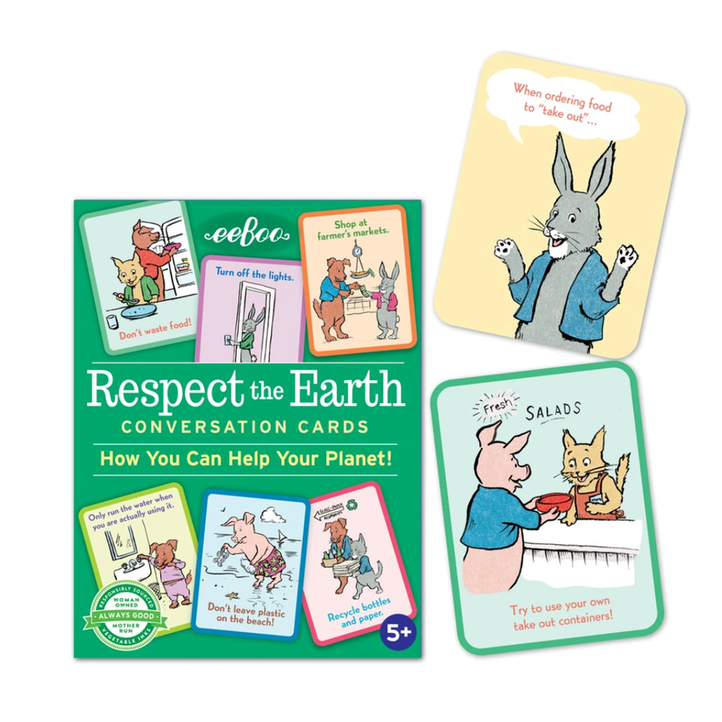 eeboo respect the earth conversation cards flashcards