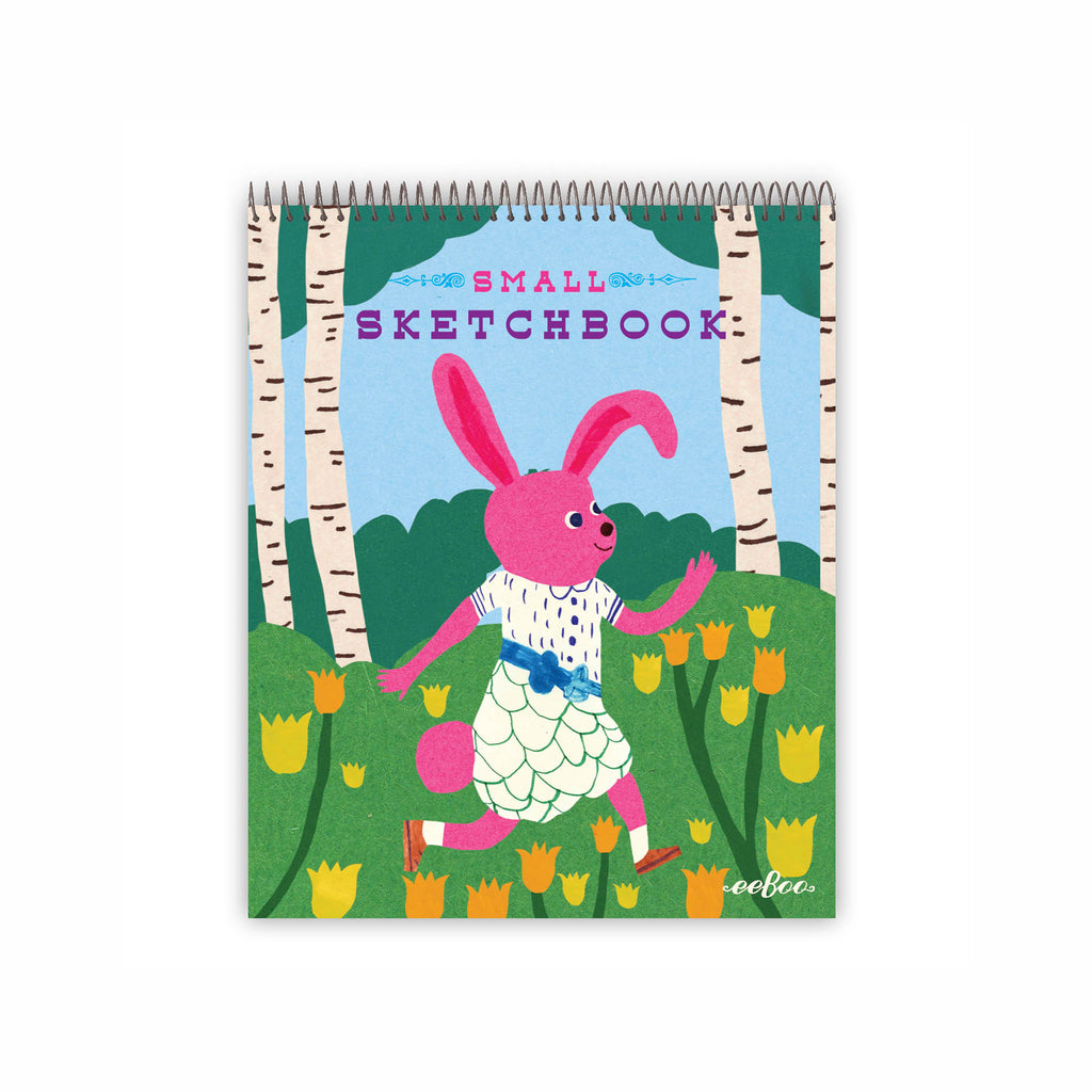 eeboo small spiral bound sketchbook animal assortment bunny cover