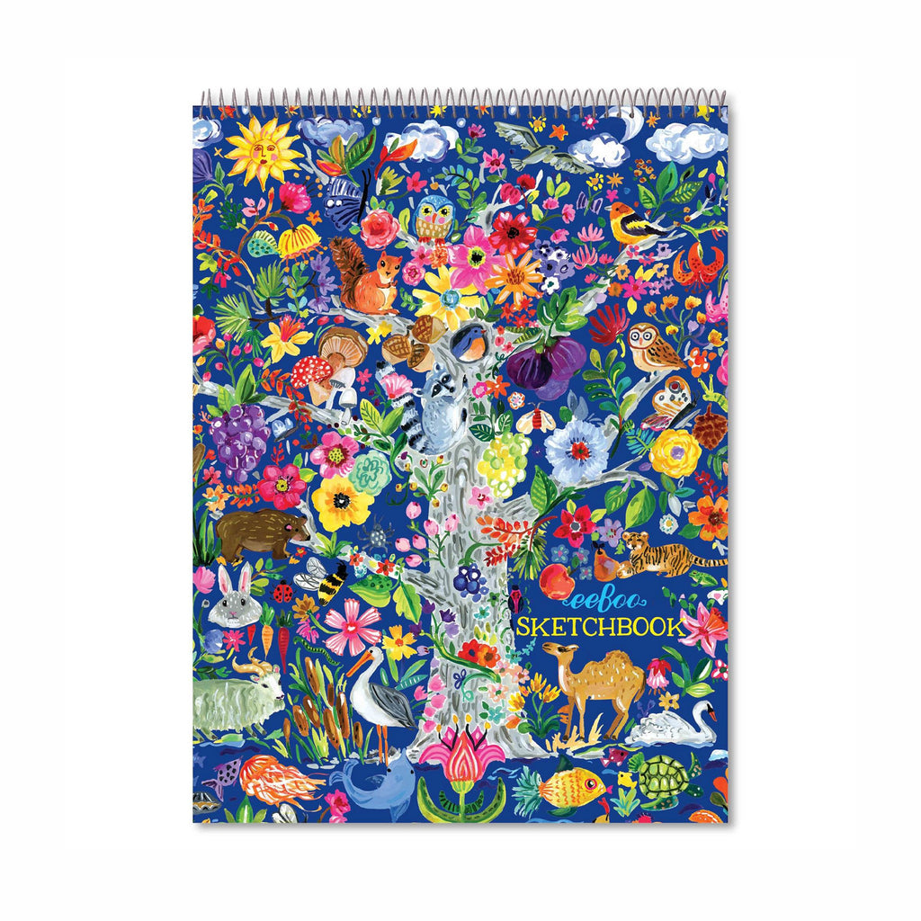 eeboo tree of life sketchbook paper pad cover