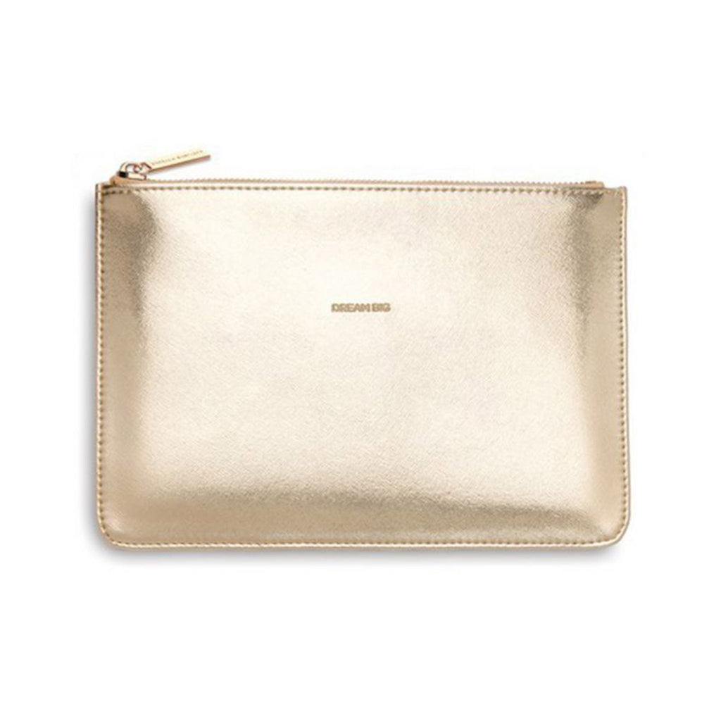 estella bartlett dream big gold medium pouch front