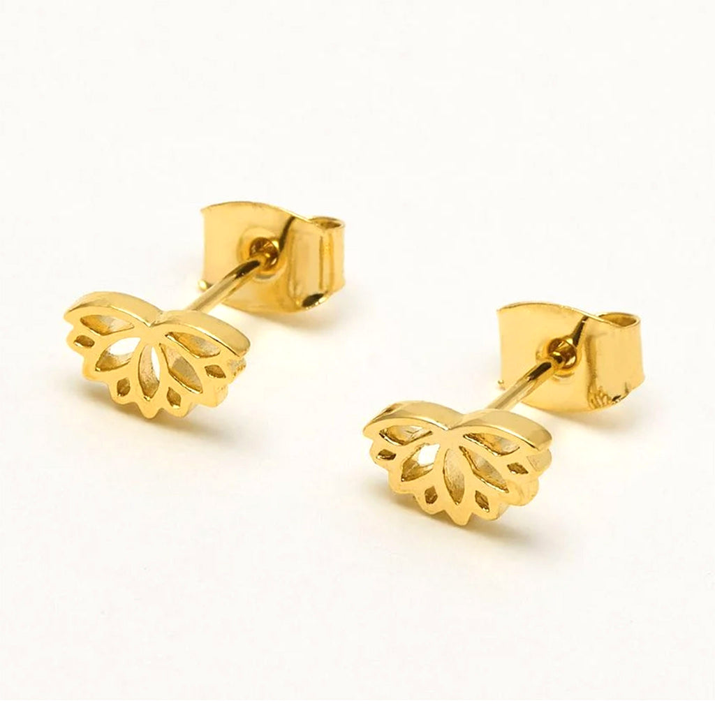 estella bartlett gold plated lotus stud earrings jewelry accessories