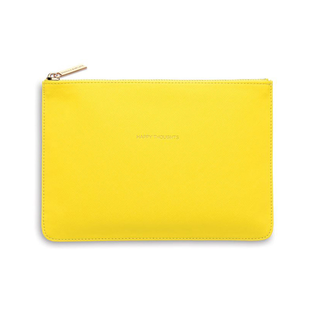 estella bartlett happy thoughts yellow medium pouch front