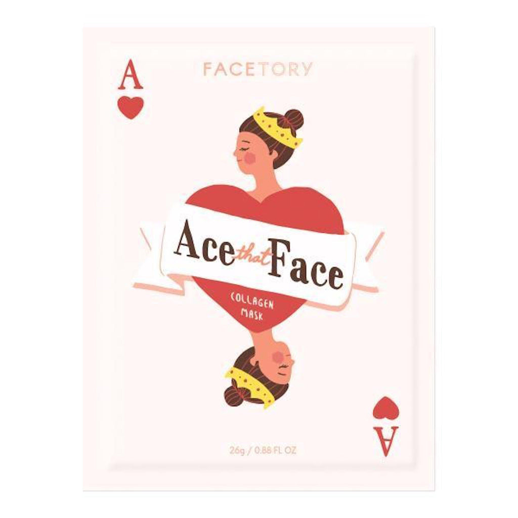 facetory ace that face collagen sheet face mask packaging front
