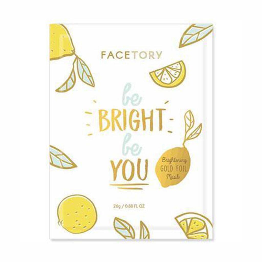 facetory be bright be you brightening gold foil sheet face mask packaging front