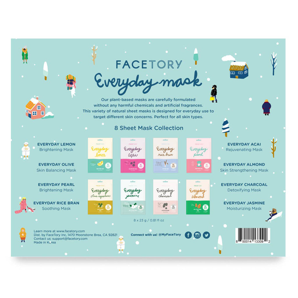 FaceTory Happy Glowy Days Everyday Holiday Sheet Mask Gift Set