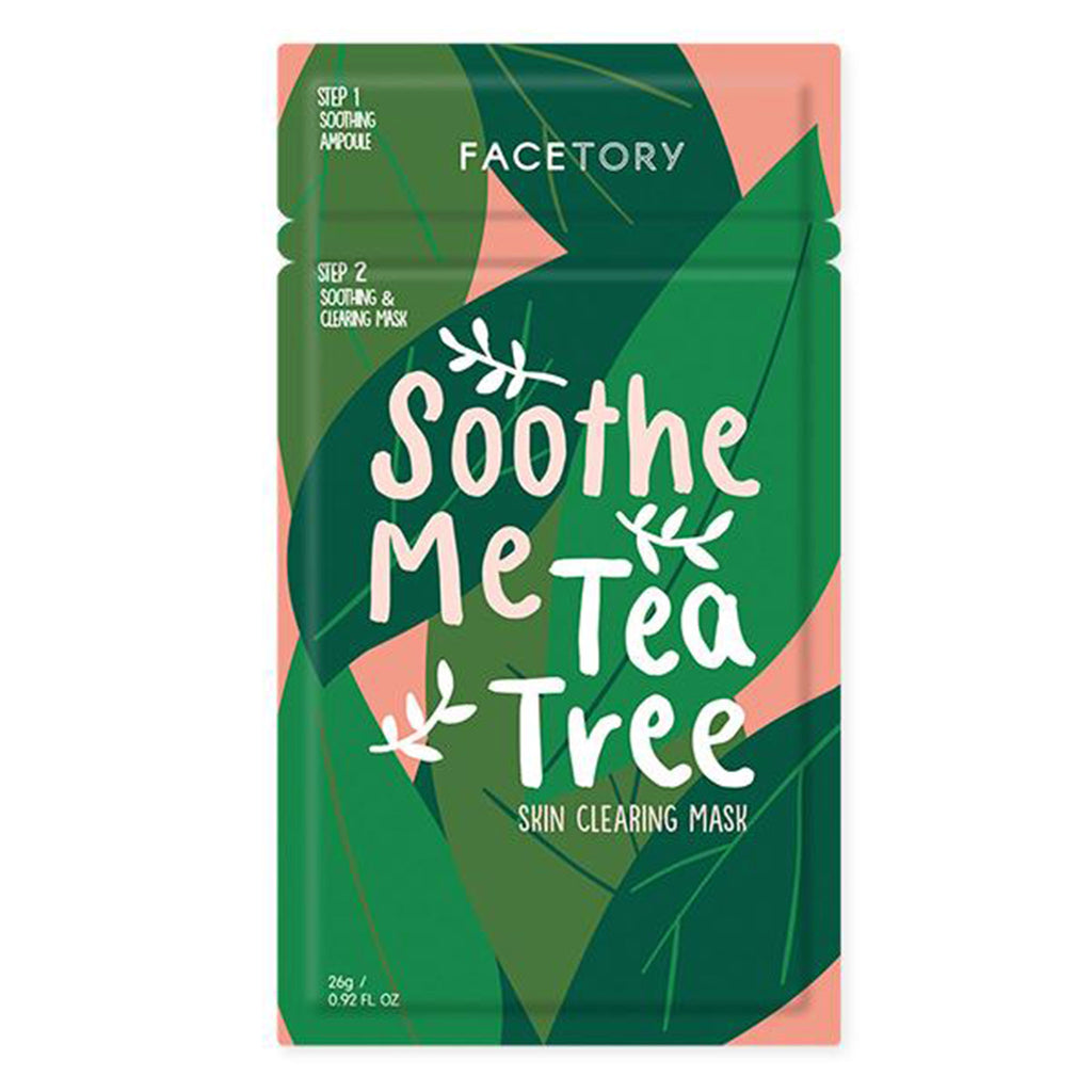 facetory soothe me tea tree skin clearing and soothing ampoule with sheet face mask packaging front