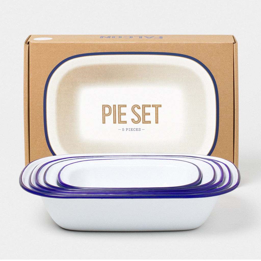 falcon enamelware 5 pc pie set