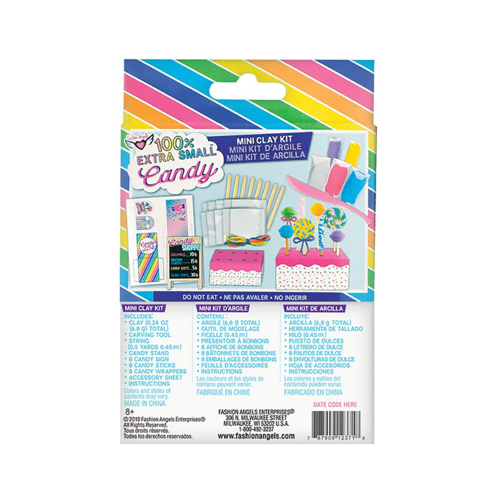 fashion angels candy extra small mini clay food kit box back
