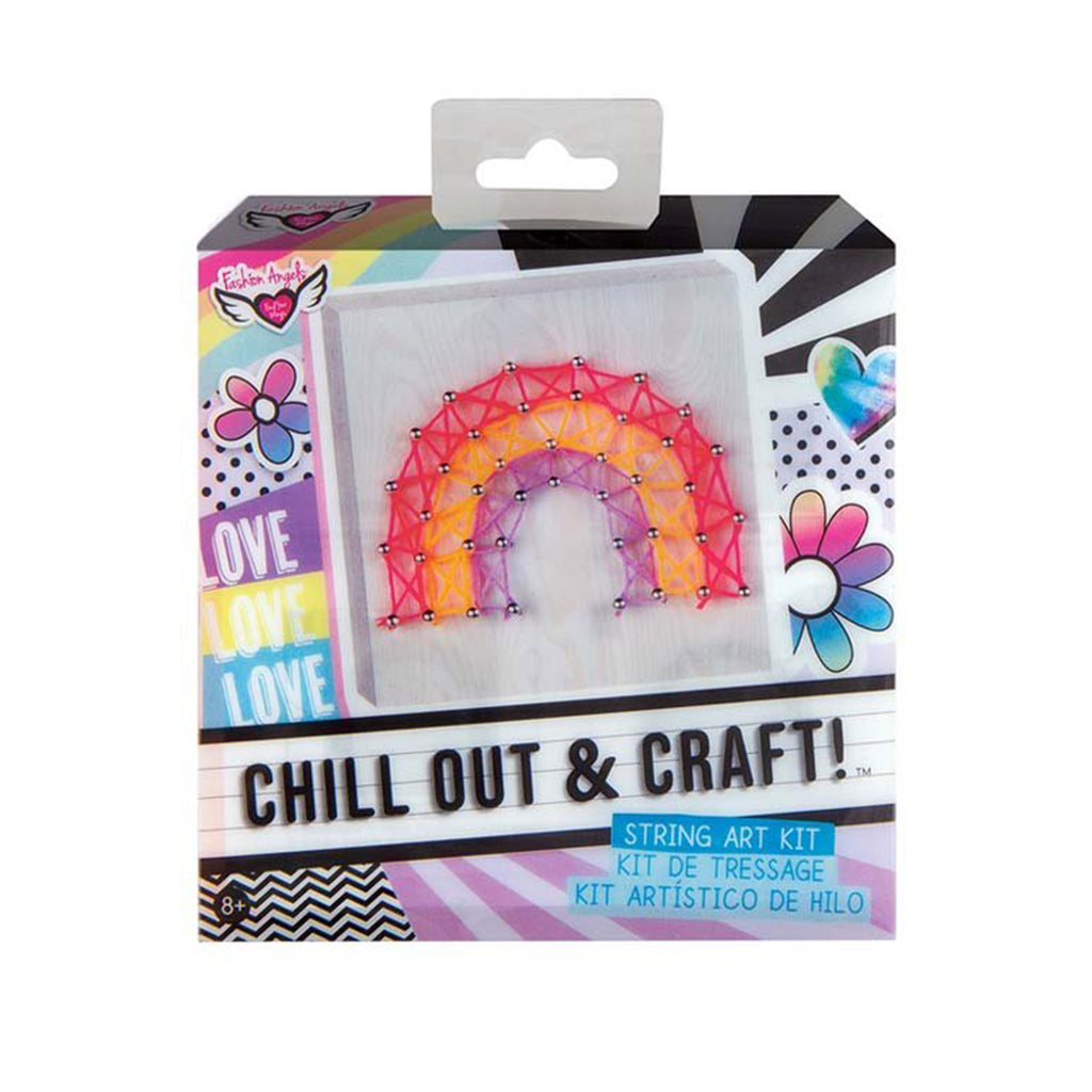 fashion angels chill out and craft rainbow string art kids diy craft kit box front