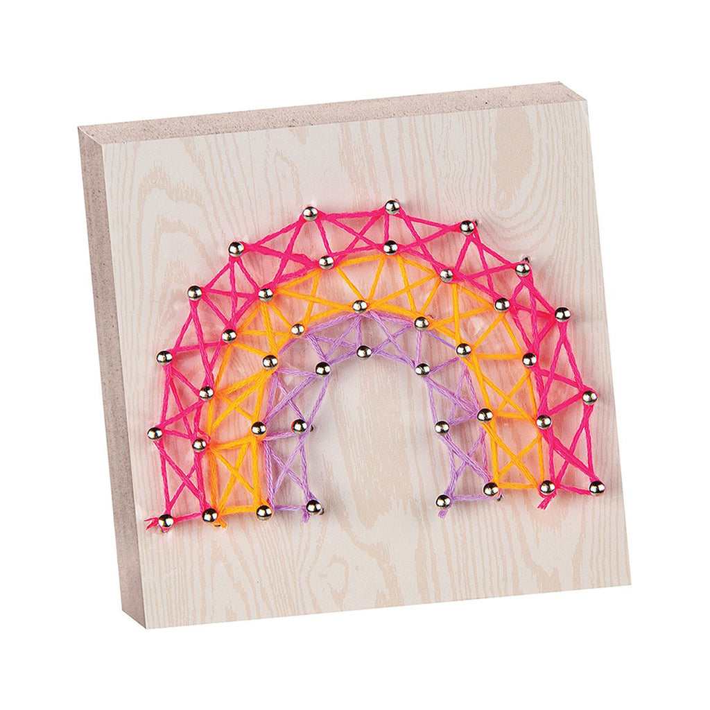 fashion angels chill out and craft rainbow string art kids diy craft kit completed