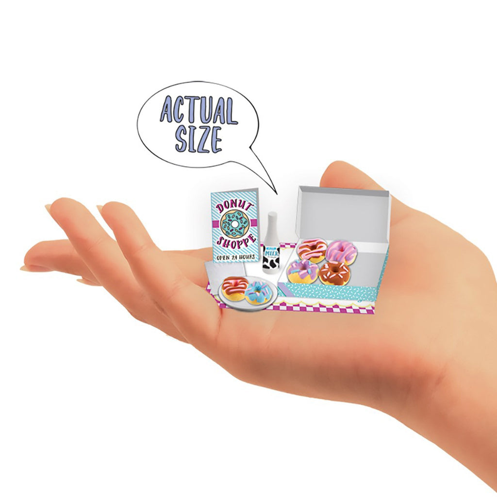 fashion angels donuts extra small mini clay food kit actual size in palm of hand
