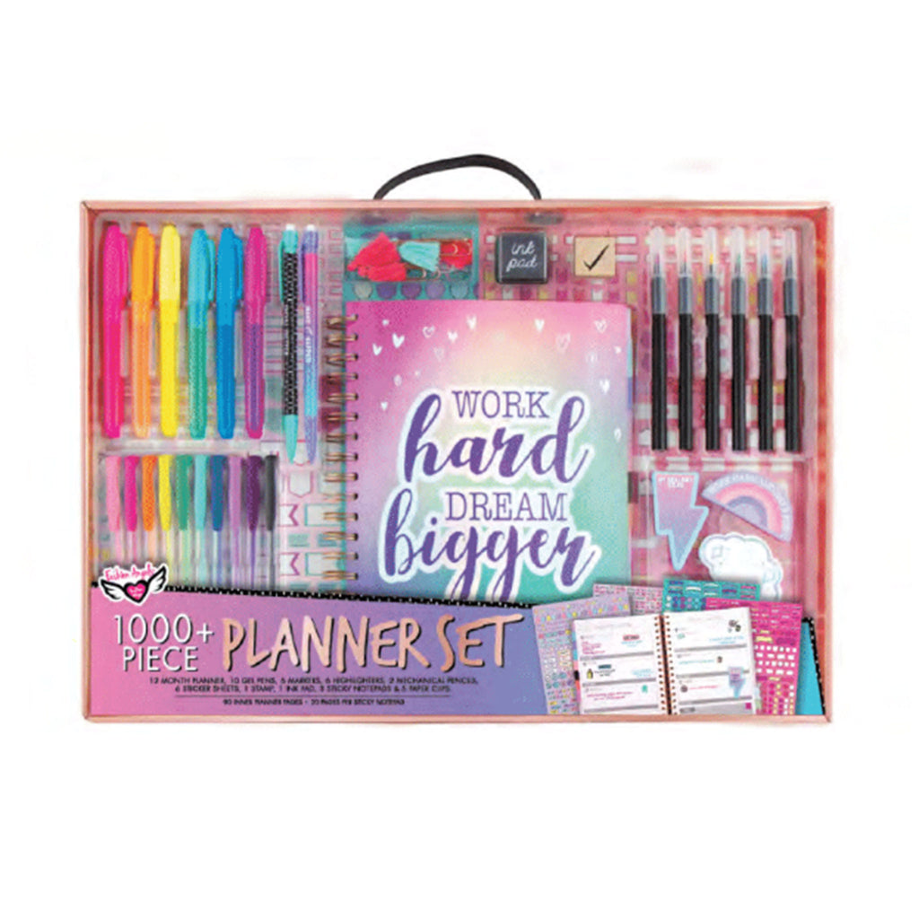 fashion angels kids deluxe weekly planner set diy art crafts kit packaging front