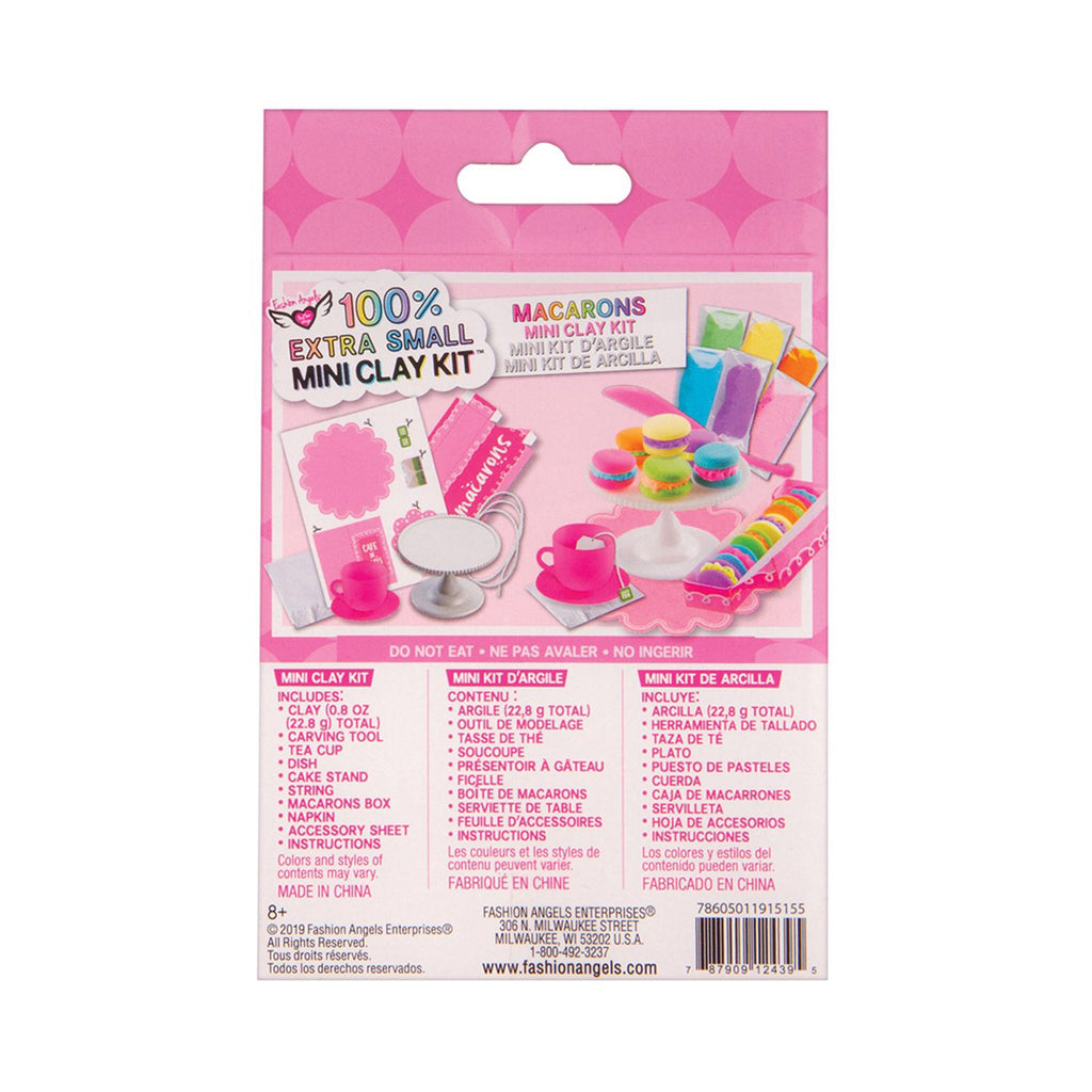 fashion angels macarons extra small mini clay food kit box back