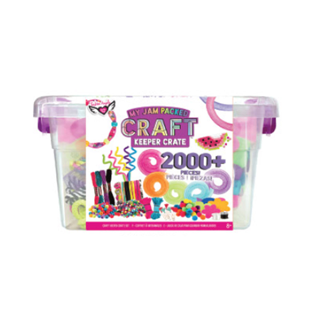 fashion angels my jam packed craft keeper crate kids diy craft kit front