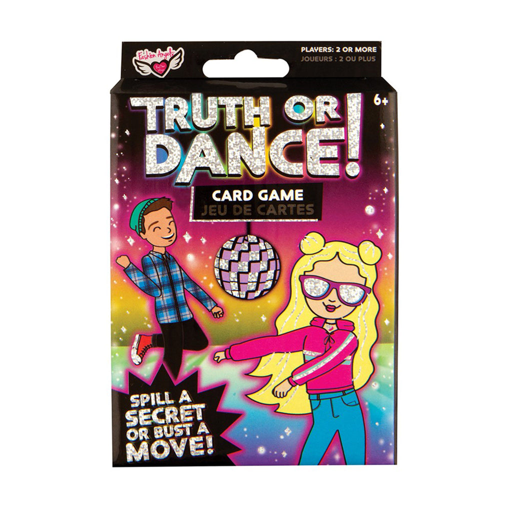 fashion angels truth or dance card game packaging front