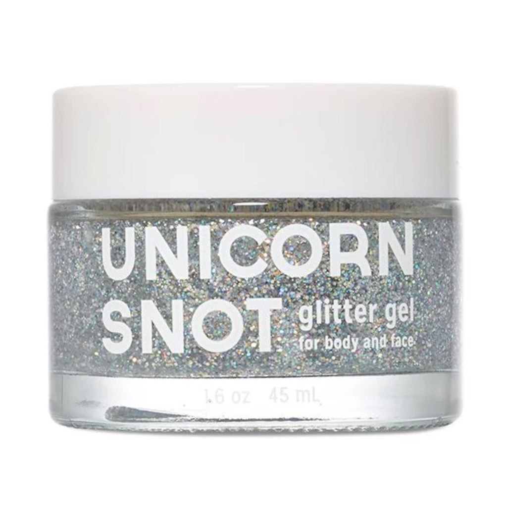 unicorn snot silver holographic glitter gel