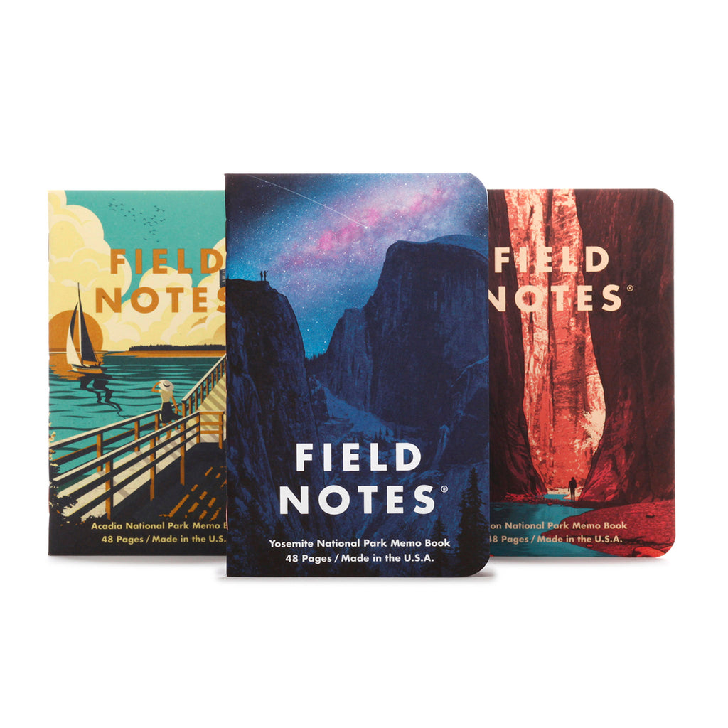 field notes national parks memo books series a covers