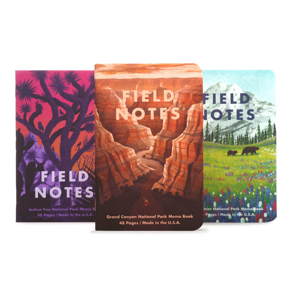 field notes national parks memo books series b covers