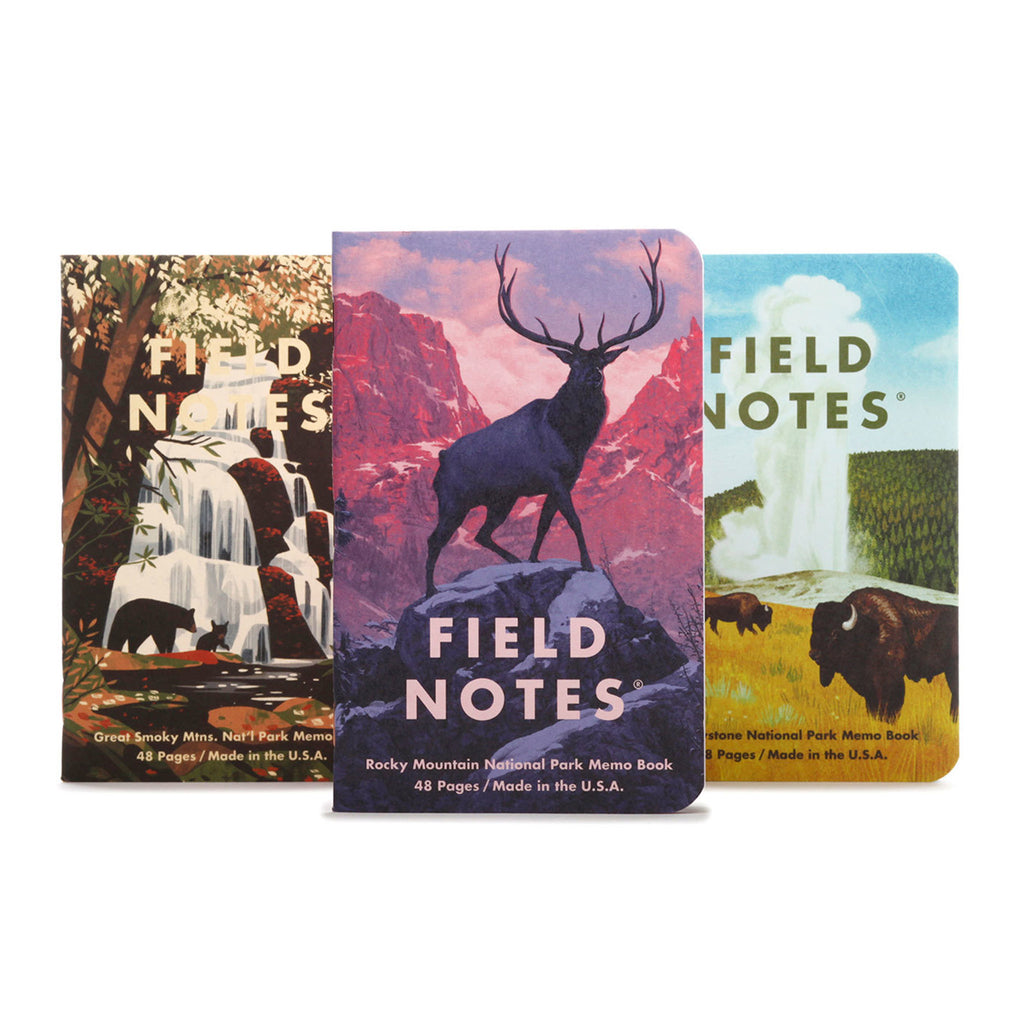 field notes national parks memo books series c covers