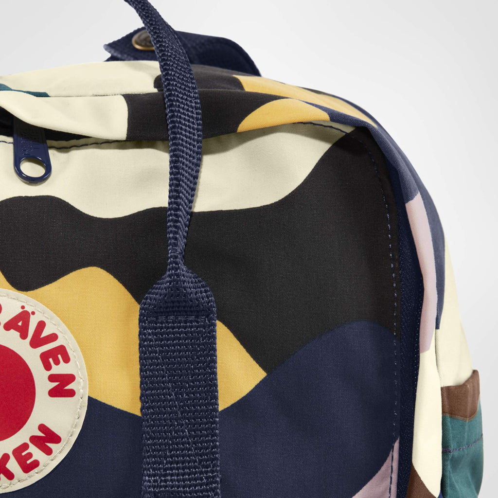 fjallraven kanken art backpack in summer landscape