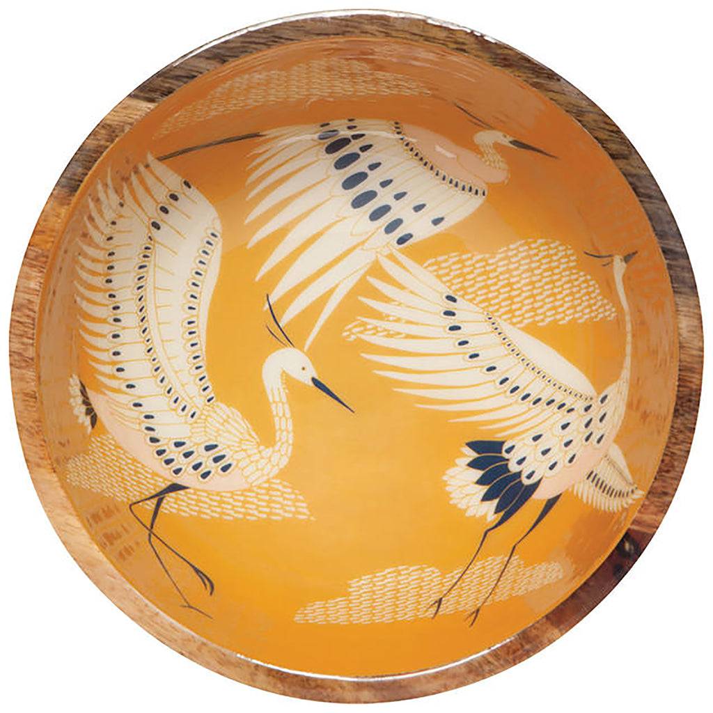 Flight of Fancy Mango Wood Serving Bowl