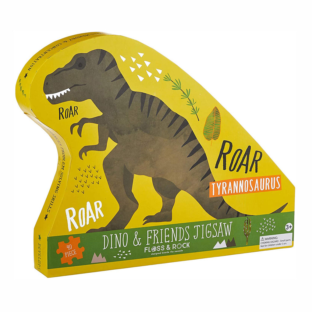 floss and rock 40 piece dino and friends jigsaw puzzle box front
