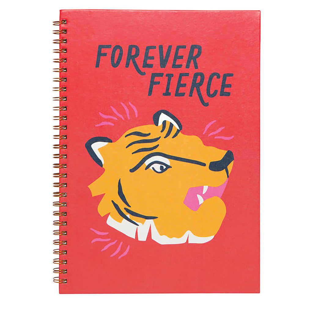 danica forever fierce spiral notebook red cover with tiger