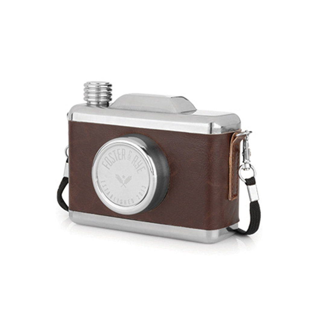 stainless steel snapshot camera flask