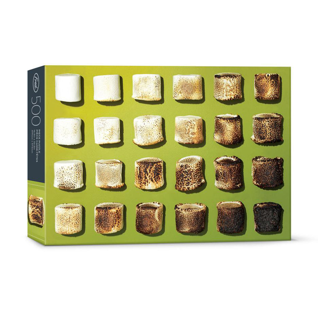fred 500 piece dan saelinger toasted marshmallow family jigsaw puzzle box front