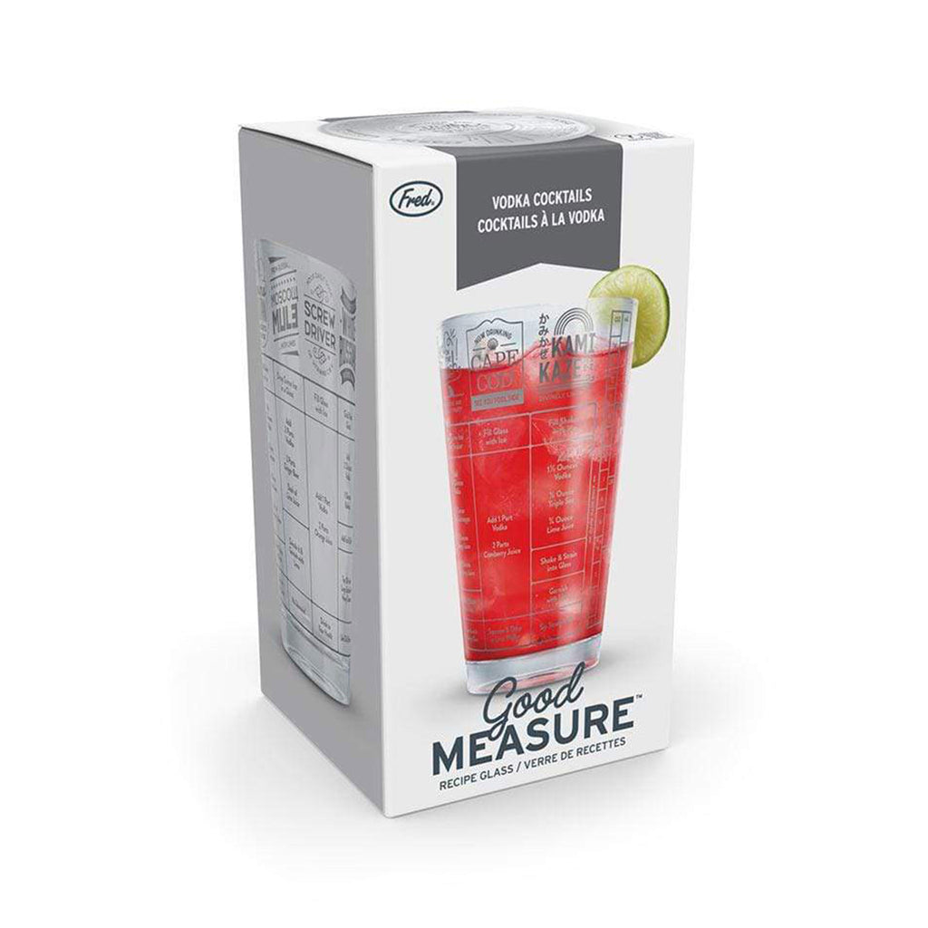 fred good measure vodka cocktail recipe pint glass in packaging