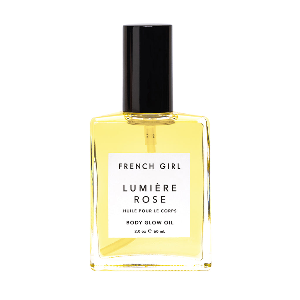french girl lumiere rose body glow oil