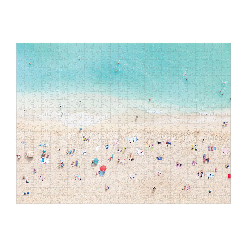 galison 500 piece gray malin hawaii double sided jigsaw puzzle glossy beach side complete
