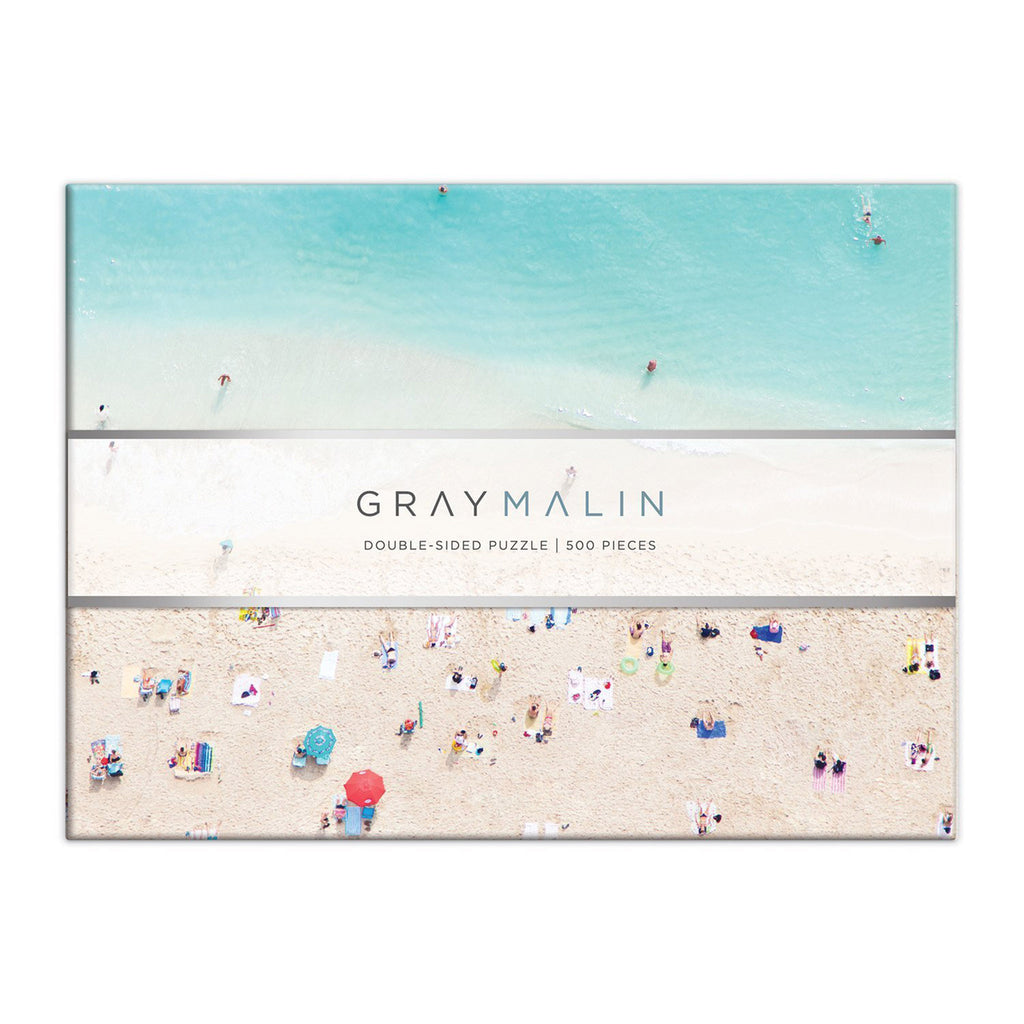 galison 500 piece gray malin hawaii double sided jigsaw puzzle box front