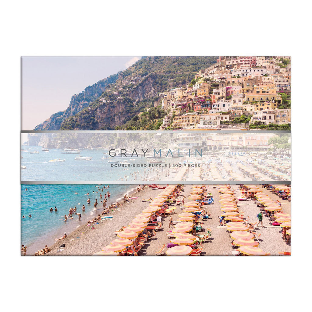 galison 500 piece gray malin italy double sided jigsaw puzzle box front