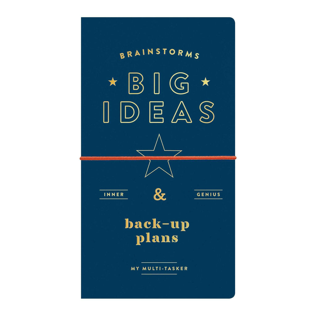 brainstorms big ideas back-up plans multi-tasker undated planner journal cover