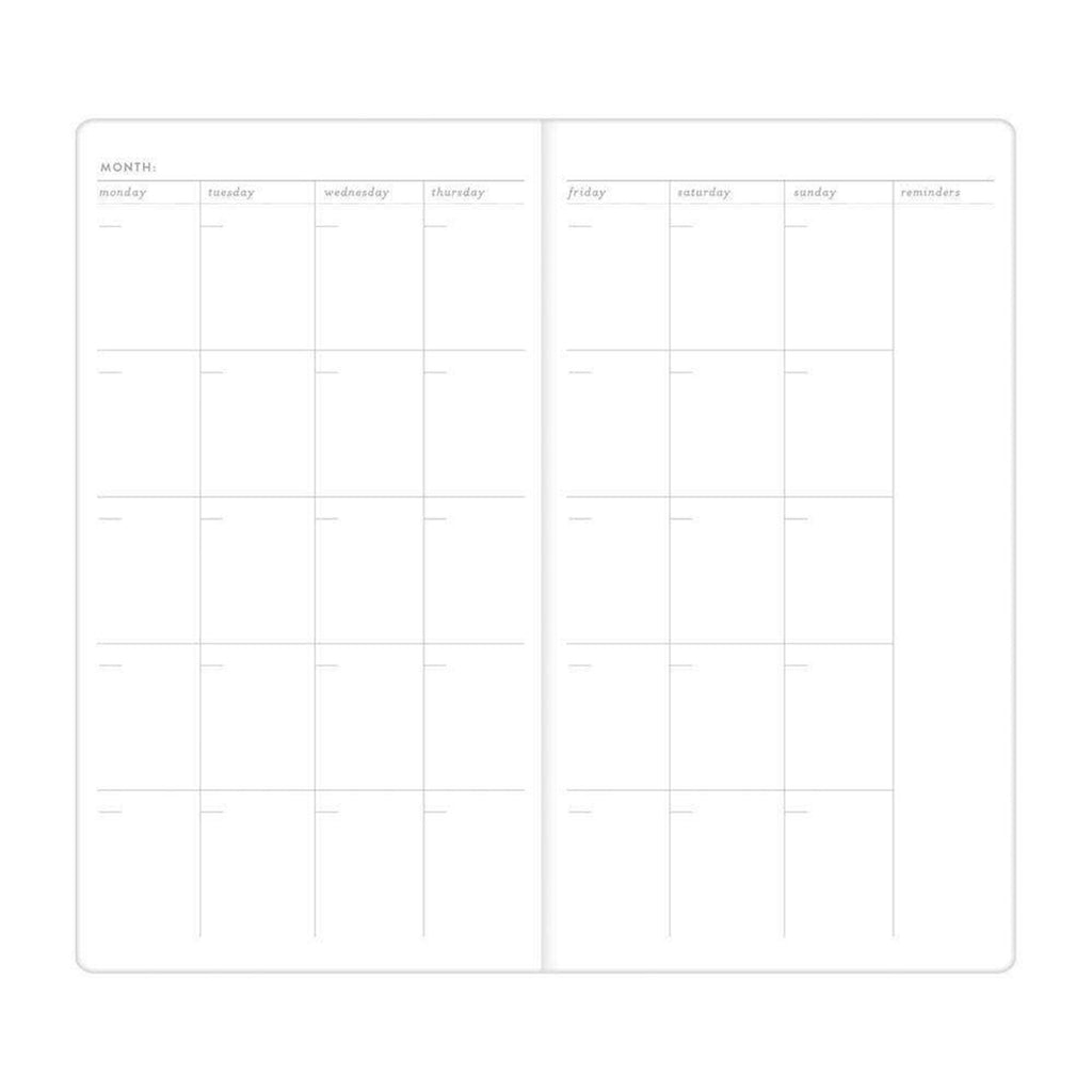 today is a good day multi-tasker undated planner journal notebook monthly calendar