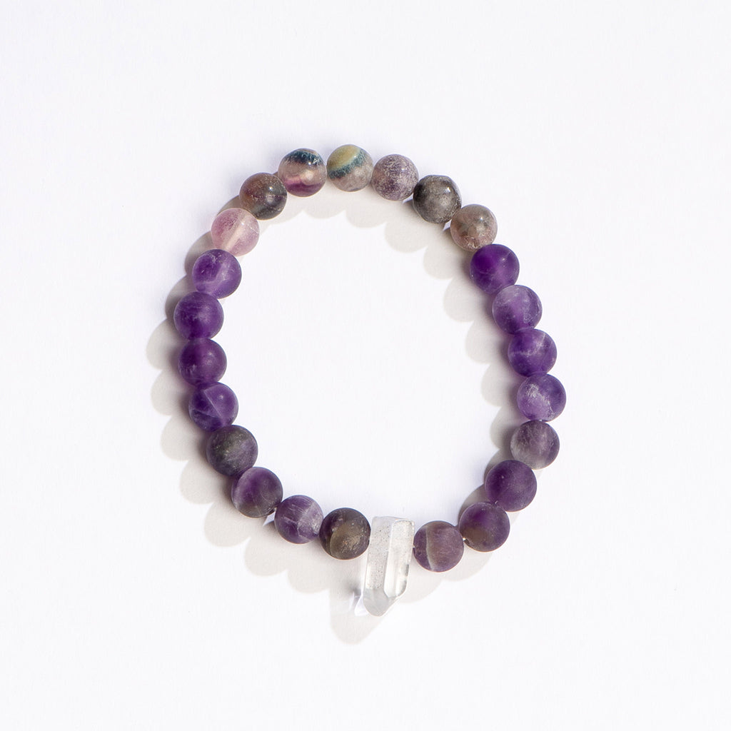 geocentral peace and abundance energy bracelet with crystal beads