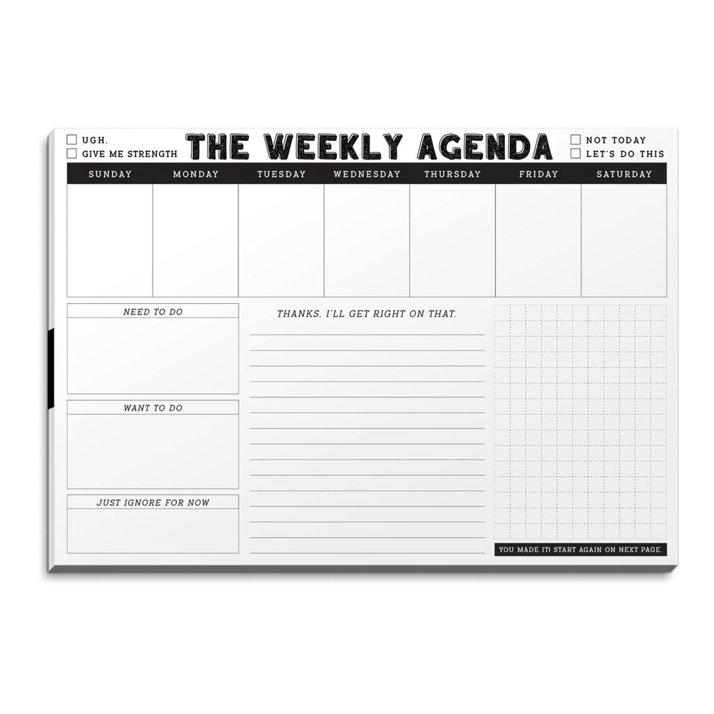 molly & rex get it together desk planner paper pad