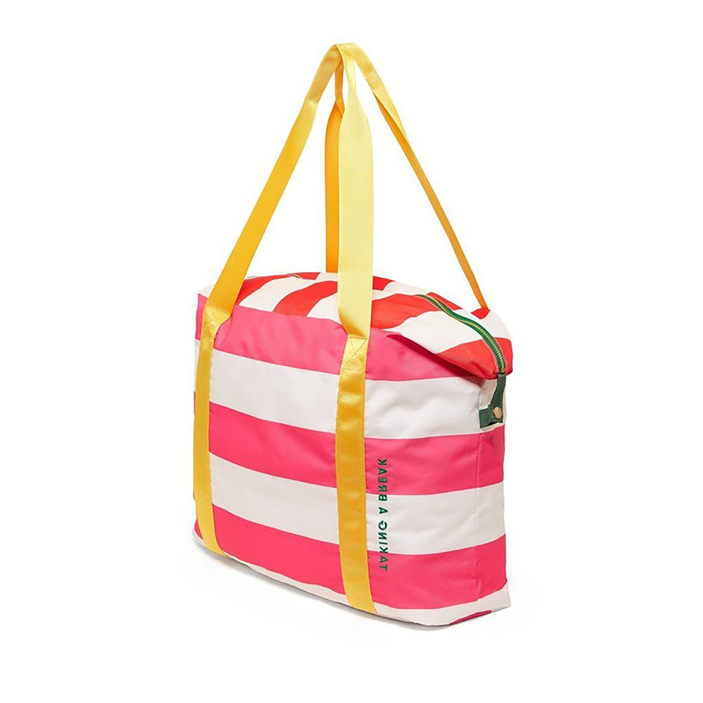 getaway weekender bag swim club stripe side