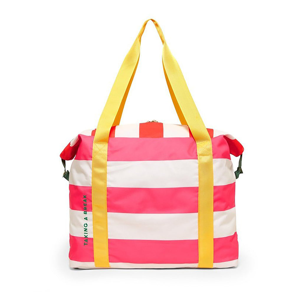 getaway weekender bag swim club stripe front