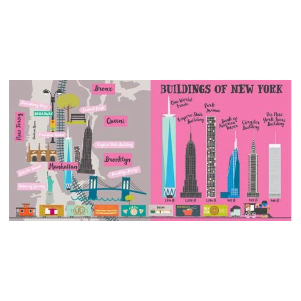 gibbs smith all aboard! new york city primer illustrated baby and toddler board book sample page