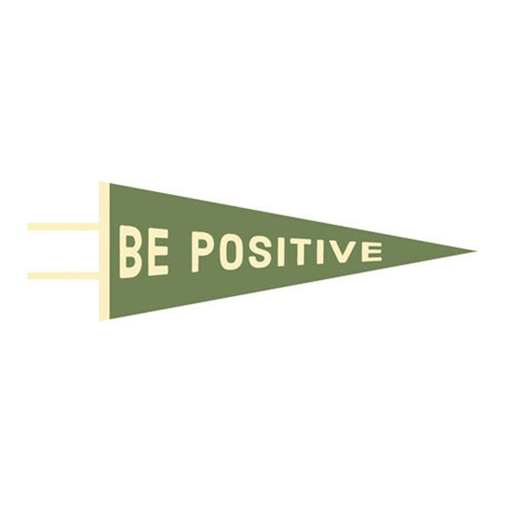 gibbs-smith be positive wool felt pennant wall hanging decoration