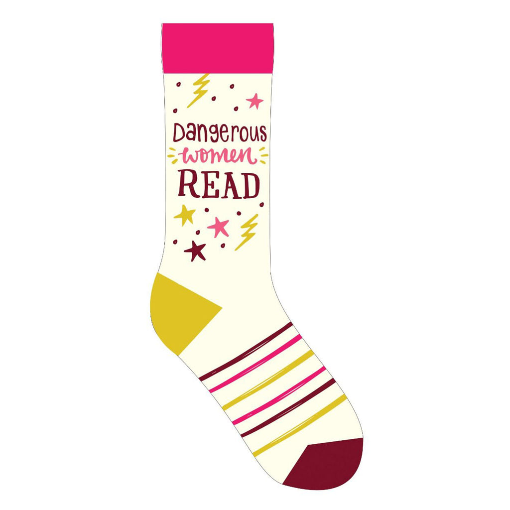 gibbs smith dangerous women read statement crew socks