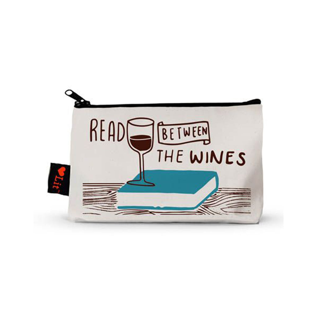 gibbs smith read between the wines pencil pouch