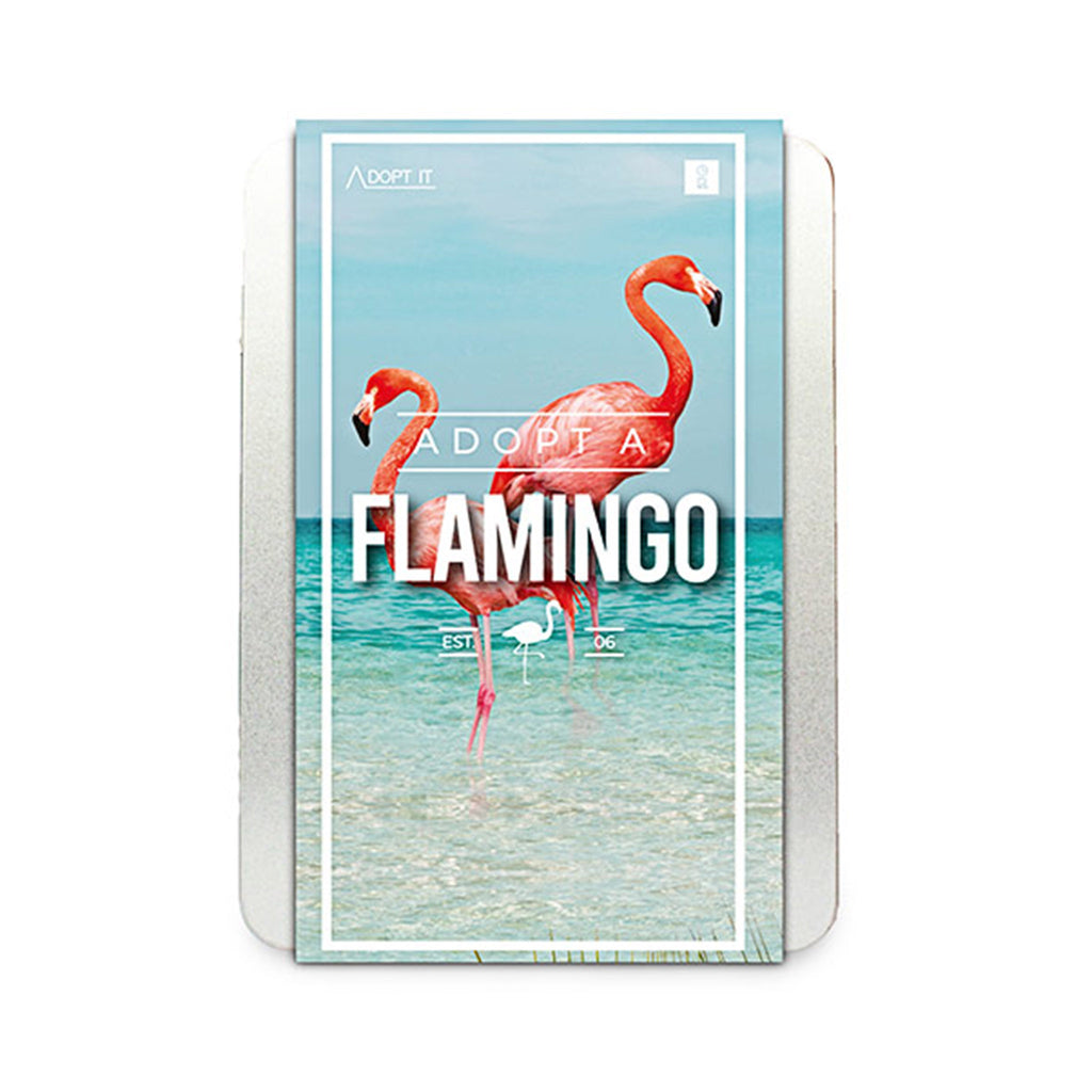 gift republic adopt a flamingo kit in tin packaging