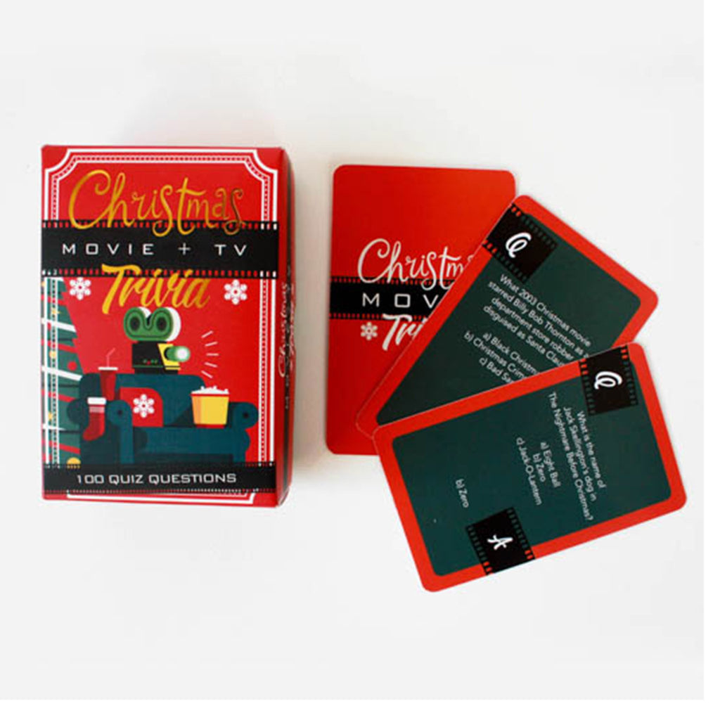 gift republic christmas movie and tv trivia game box sample cards with questions