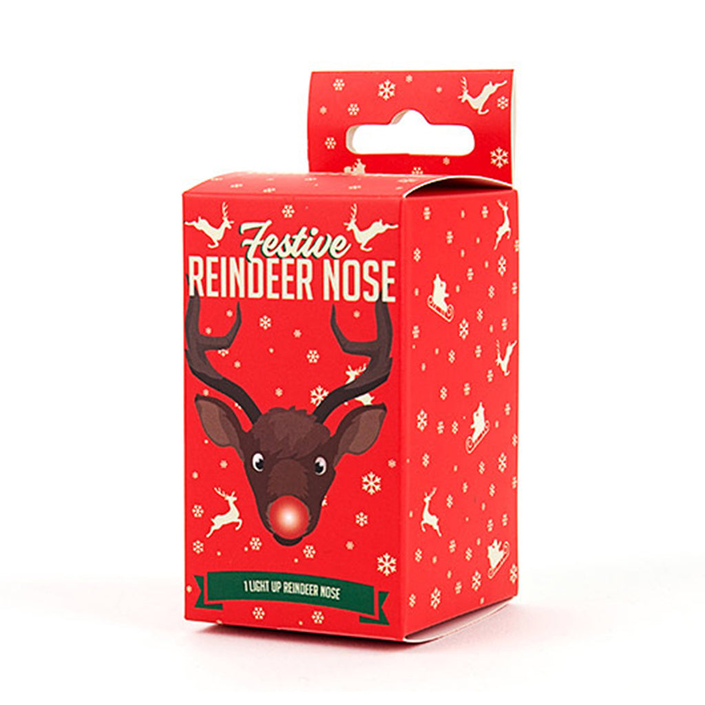 gift republic festive rudolph light up reindeer nose box